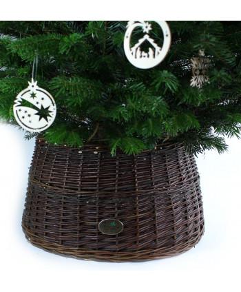 Prútený košík pod stromček Tmavý