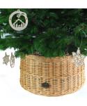 Prútený košík pod stromček