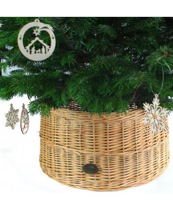 Prútený košík pod stromček Stredný