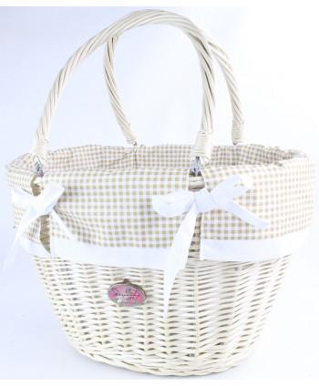 Prútená nákupná taška Tari White KROT