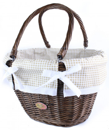 Prútená nákupná taška Tari Brondze KROT