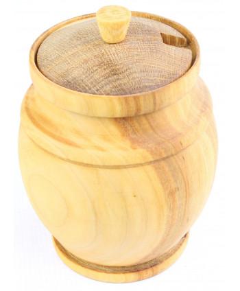 Drevená nádobka na med