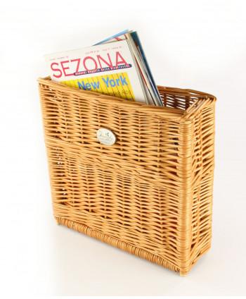 Prútený košík na noviny a časopisy KURRY