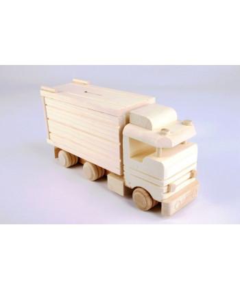 Drevený kamión - pokladnička