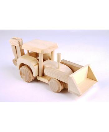 Drevený traktorbager