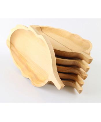 Sada drevených tanierov...