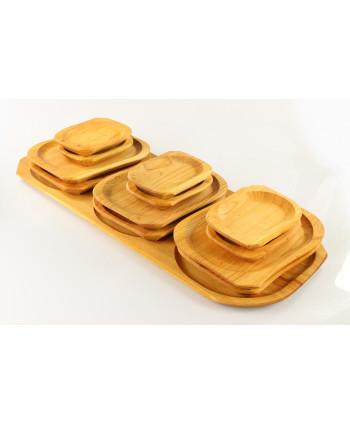 Sada drevených tanierov s...
