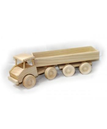 Drevený kamión s veľkým návesom