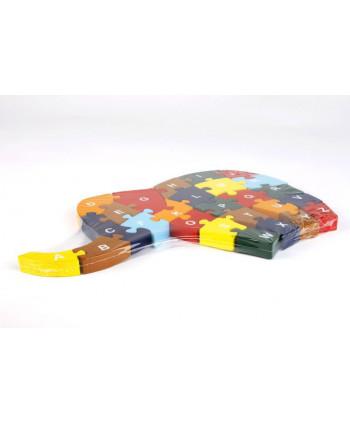 Drevené puzzle Sloník