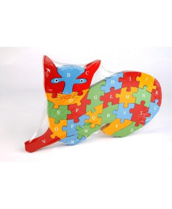 Drevené puzzle Mačka