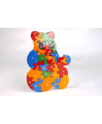 Drevené puzzle Medvedík