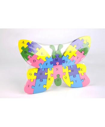 Drevené puzzle Motýľ
