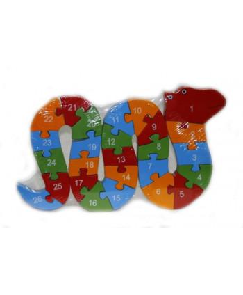 Drevené puzzle Hadík