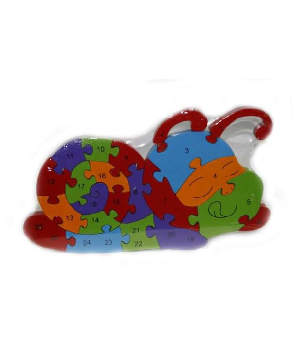Drevené puzzle Slimáčik