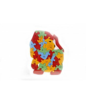 Drevené puzzle Levík