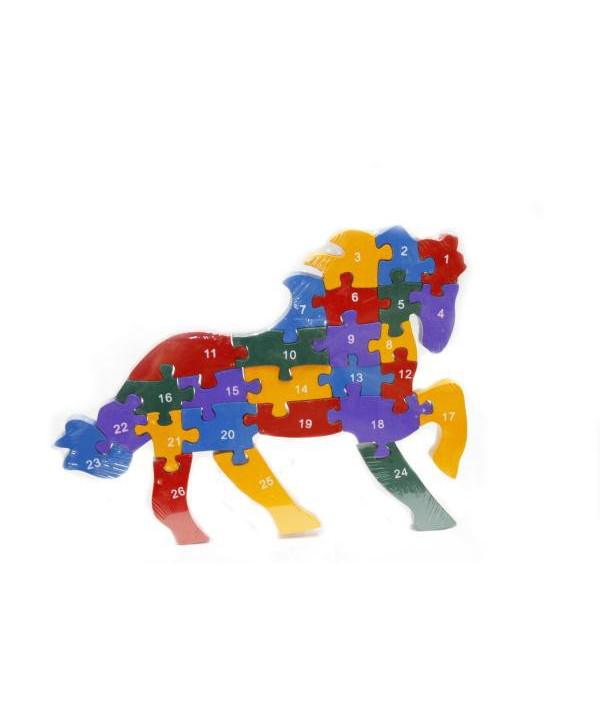 Drevené puzzle Koník