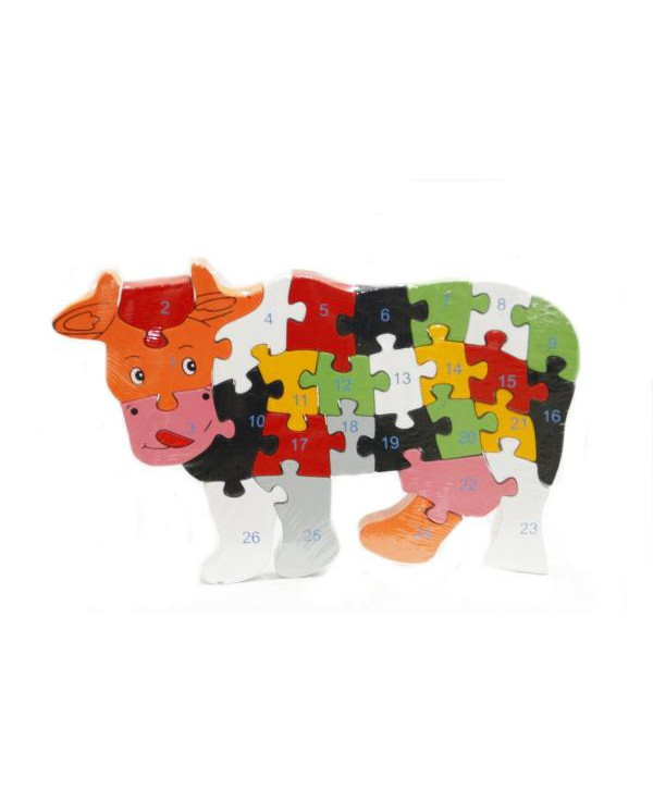 Drevené puzzle Kravička