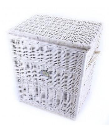 Prútený prádlový kôš Bella White