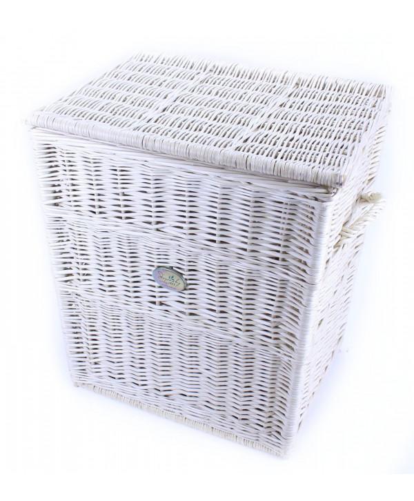 246a876f6 prútený kôš, prádlovy kôš biely, biele prútie, kôš na bielizeň