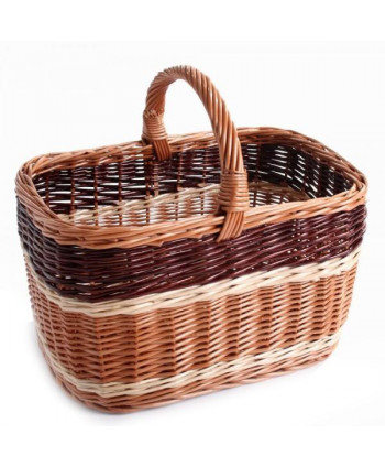 Prútený nákupný košík Trikolora